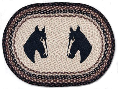 2 Horseheads Braided Rug