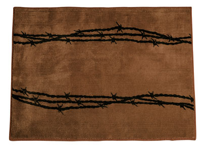 Barbwire Rug Brown