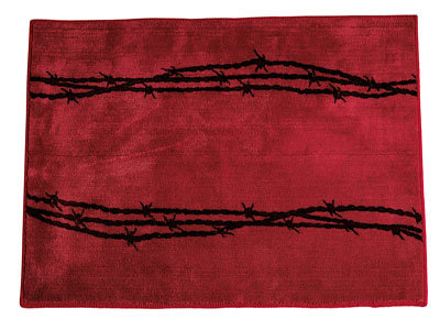 Barbwire Rug Red