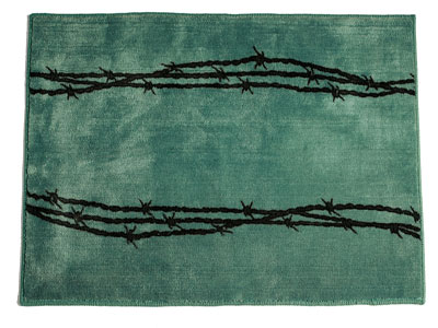 Barbwire Rug Turquoise