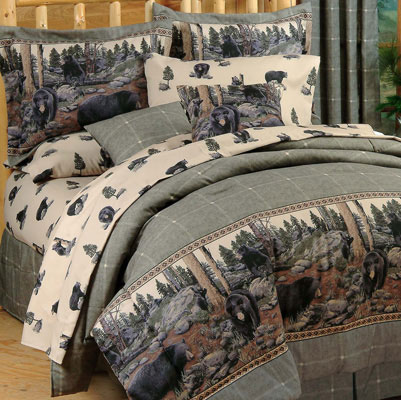 Black Bears 4 pc. Comforter Set