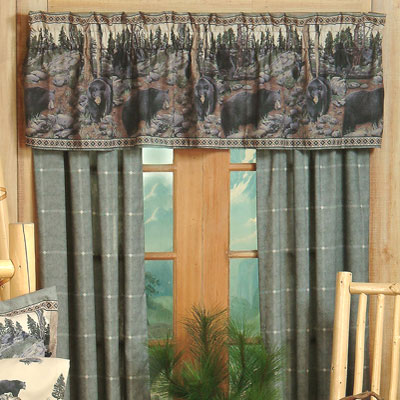 Black Bears Valance