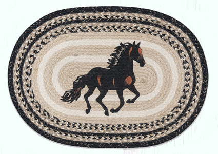 Black Stallion Braided Rug