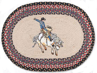 Bucking Bronco Braided Rug