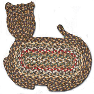Cat Braided Rug