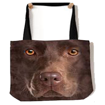 Chocolate Lab Face Tote