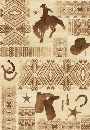 Cowboy, Hat & Boot Area Rug