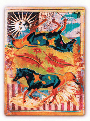 Galloping Horses Area Rug