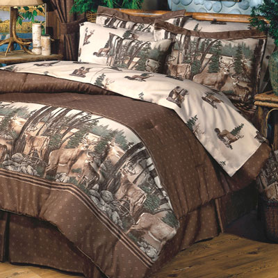 Deer Herd 4 PC Comforter Set