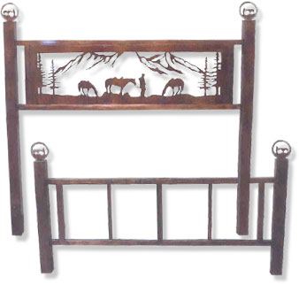 Horse Headboard & Footboard Sets