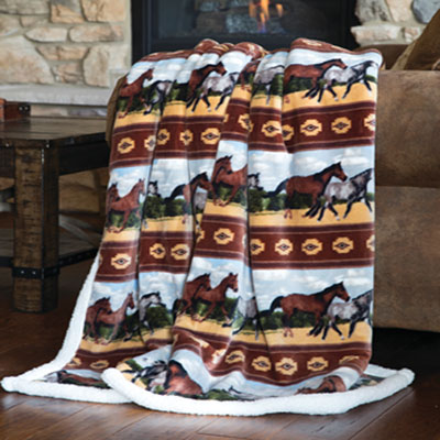 Horses Multi Throw Blanket