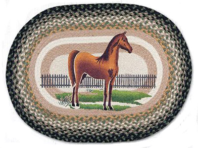 Braided Standing Horse Rug