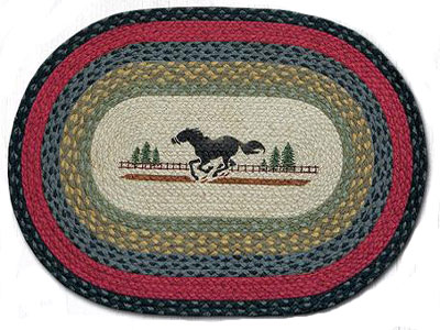 Running Horse Braided Rug