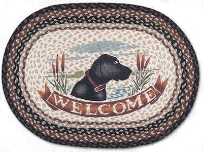 Black Lab Welcome Rug
