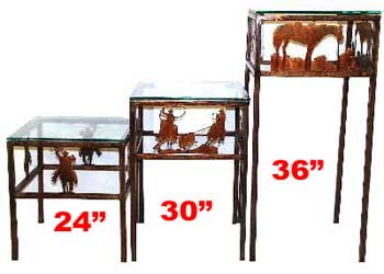 Western Pedestal Tables