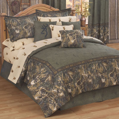White Tails Collage 4 PC Comforter Set