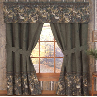 White Tails Collage Valance