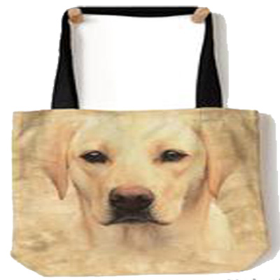 Yellow Lab Face Tote