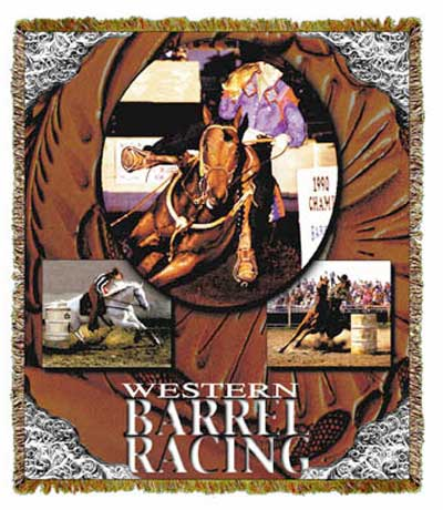 Barrel Racer Throw/Tapestry