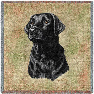 Black Lab Lap Throw