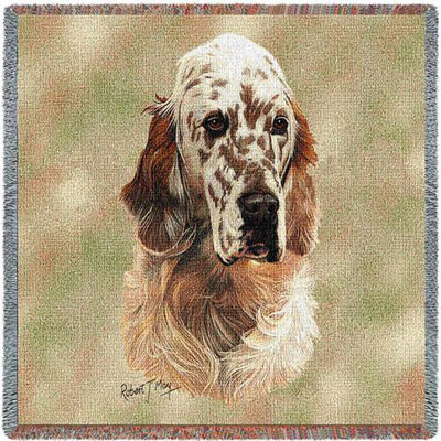 English Setter Throw