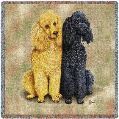 French Poodles Lap Throw