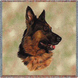German Shepard Lap Throw