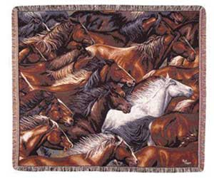 Horses of Diff. Colors Tapestry