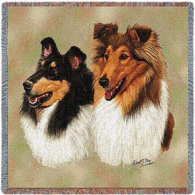 Pair of Collies Throw