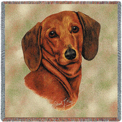 Red Dachshund Throw