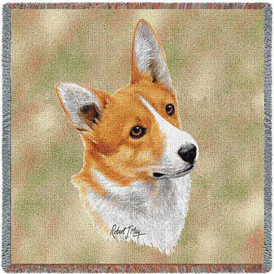 Welsh Corgi Lap Throw