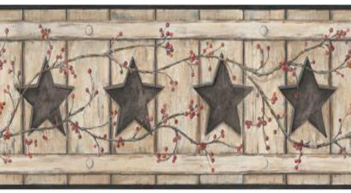 Wallpaper - Country Cut Out Stars Border