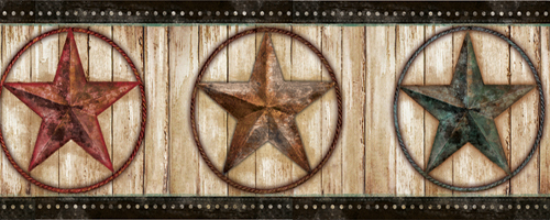 Western Peddler Pure Country Stars Wallpaper Border