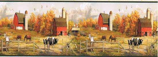 Wallpaper Border -American Farmer