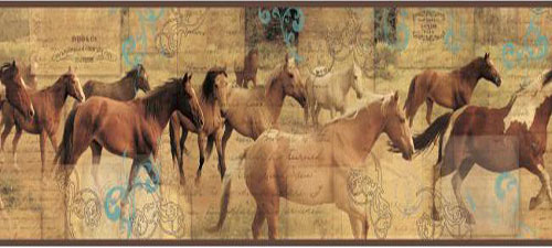 Wallpaper Border - Pony Express