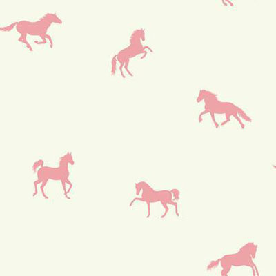 Wallpaper - Hooray For Horses Pink