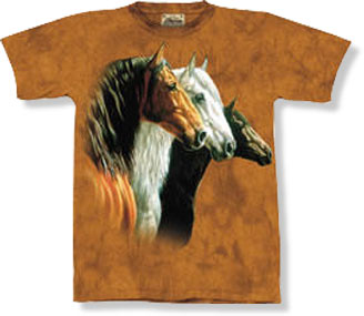 3-Horse Portrait T-shirt