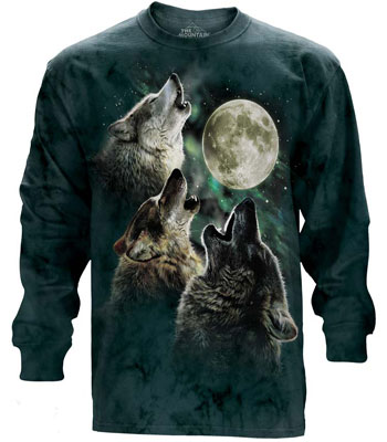 3 Wolf Moon Long Sleeve T- Shirt
