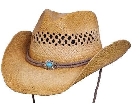 Shapeable Western Straw Hat