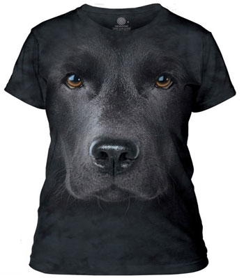 Black lab Ladies T-Shirt