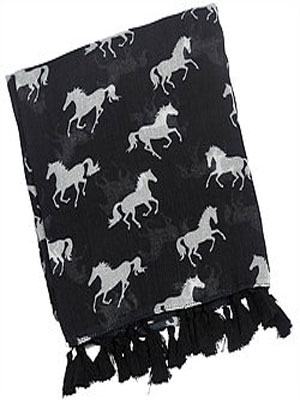 Black Tassled Scarf