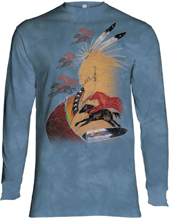 Blue Horizon Horses Long Sleeve T-Shirt