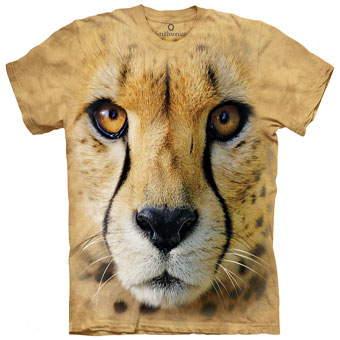 Cheetah Face T- Shirt