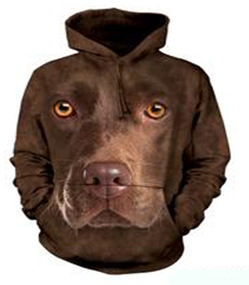 Chocolate Lab Face Hoodie