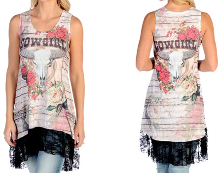 Cowgirl Roses Tank Dress