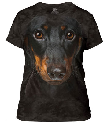 Dachshund Head Ladies T-Shirt