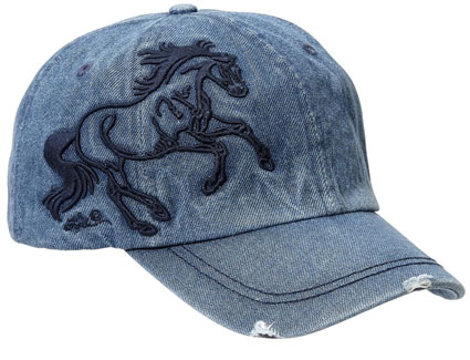 Embroidered Denim  Cap