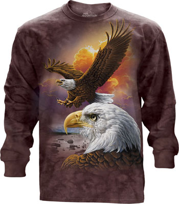 Eagles and clouds Long sleeve T- Shirt
