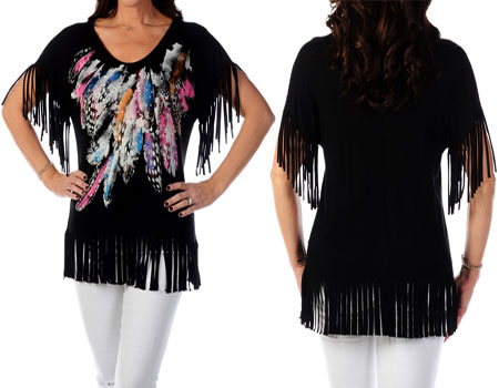 Fringe and Feathers Ladies T-shirt