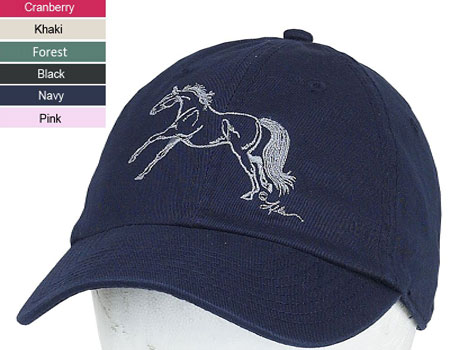 Galloping Horse Embroidered Cap